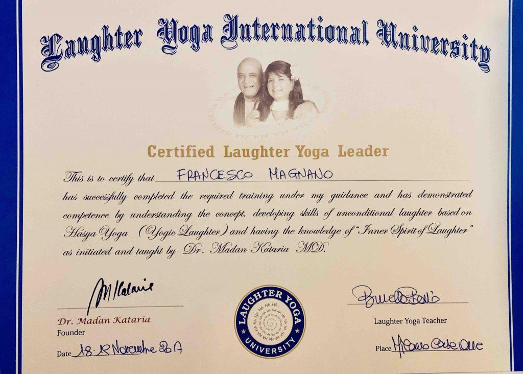 Francesco Magnano Leader Yoga della Risata