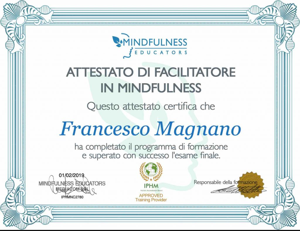 Attestato di Facilitatore in Mindfulness